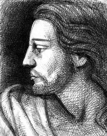 Jesús - dibujo Rodrigo Valencia