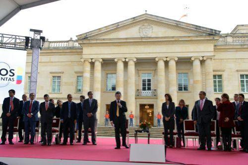 Juan Manuel Santos en palacio