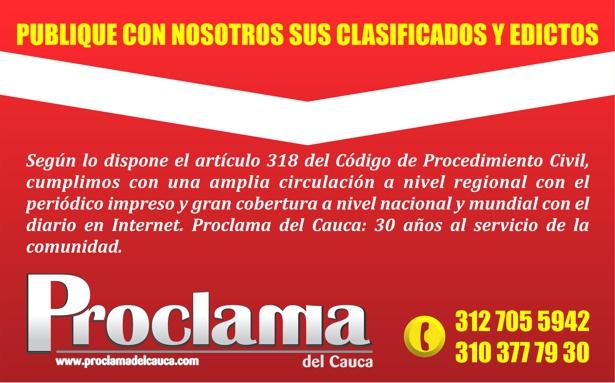 Proclama del Cauca - Clasificados y Edictos