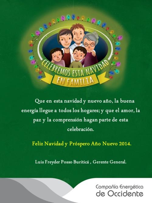 Feliz Navidad y Pr+¦spero A+¦o 2014