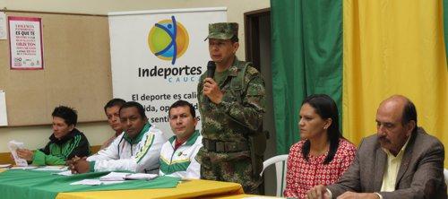 coronel Alejandro Pinzón, comandante de la Brigada 29 del Ejército Nacional