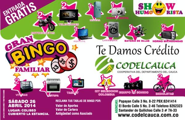 Codelcauca - Gran Bingo