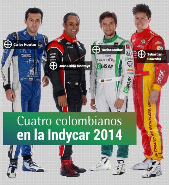Colombianos en la Indycar 2014