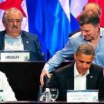 Santos de rodillas ante Obama