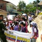 Mondomo marcha por la liberación de Yineth Dayana