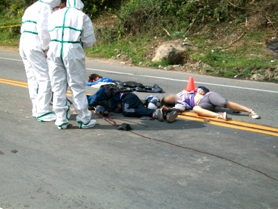 Accidente de tránsito sobre la vía Panamericana