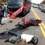 Accidente de tránsito deja 2 personas lesionadas