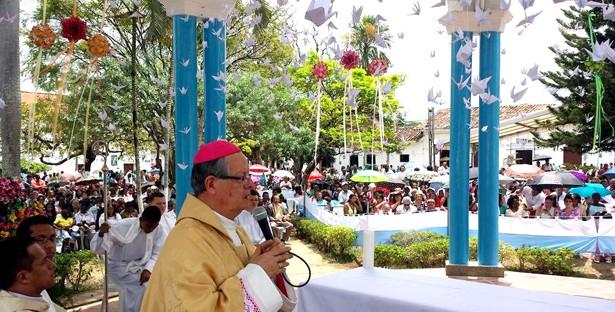 Fiestas Niña Maria de Caloto - monseñor Iván Antonio Marín