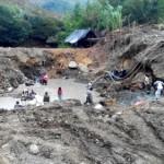 Minería ilegal en el río Ovejas