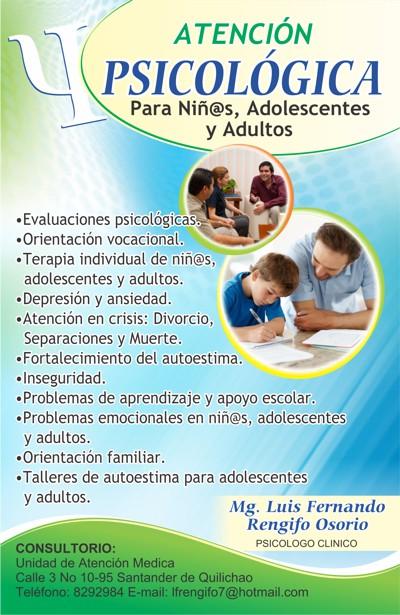 Atención Psicológica - Santander de Quilichao