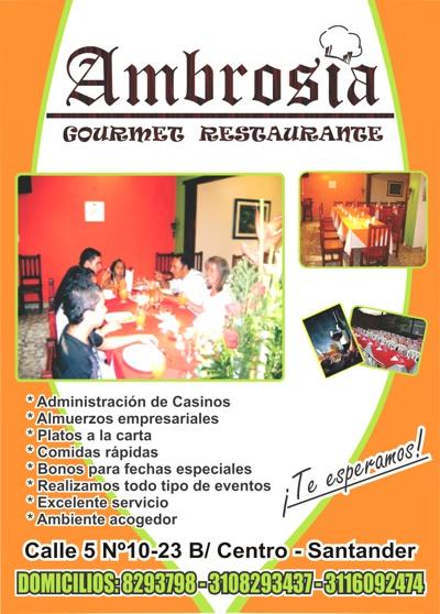 Ambrosía Gourmet Restaurante - Santander de Quilichao
