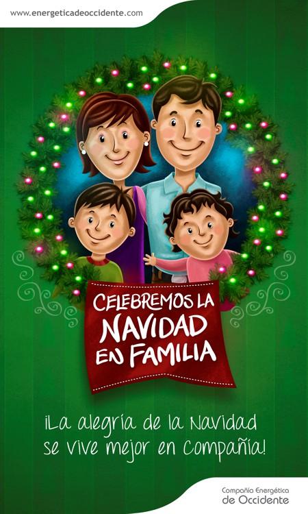 Celebremos la navidad en familia - Compañía Energética de Occidente