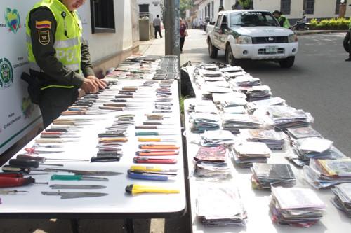 Policia en Santander