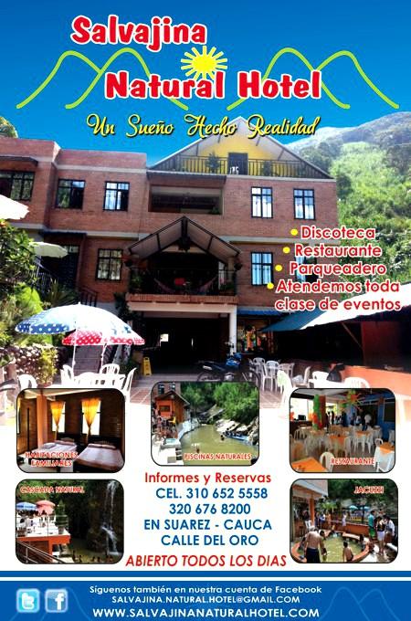 Salvajina Natural Hotel - Suárez - Cauca