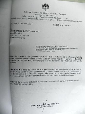 Tutela discapacitados Santander de Quilichao1