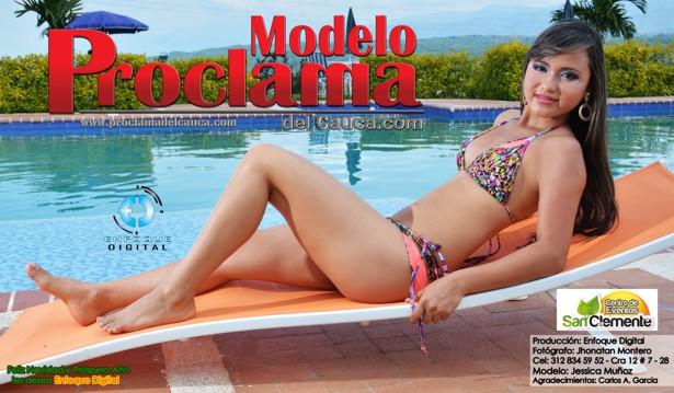 Jessica Muñoz - Modelo Proclama del Cauca - Diciembre 2014-2