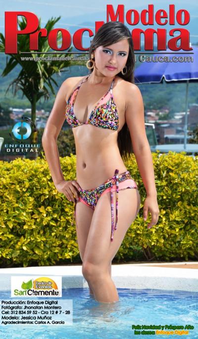 Jessica Muñoz - Modelo Proclama del Cauca - Diciembre 2014