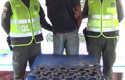Capturado quien había hurtado las cadenas del parque de Santander de Quilichao