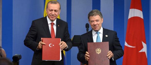 Presidente de Turquía y de Colombia - Recep Tayyip Erdogan y Juan Manuel Santos