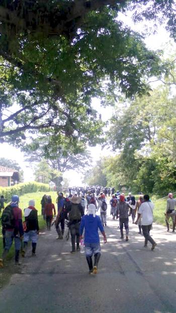 Choques entre indígenas y fuerza pública en Caloto