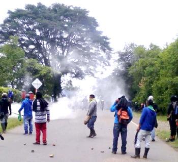 Choques entre indígenas y la fuerza pública en Caloto