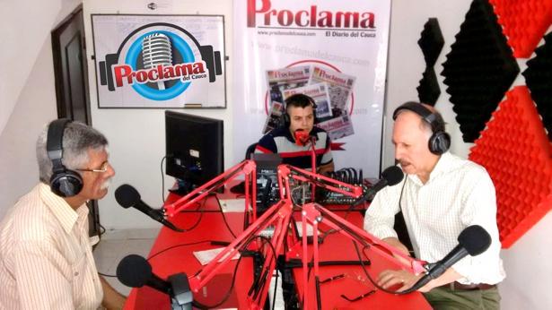 El gobernador en Proclama del Cauca Radio - Temístocles Ortega