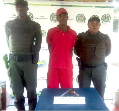 Capturado por porte ilegal de arma de fuego en Santander de Quilichao