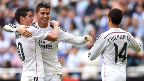 Real Madrid, Chicharito, James, Ronaldo