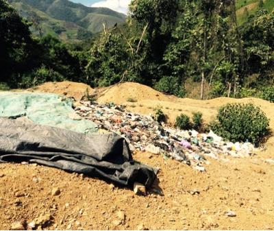 Basuras en Argelia, Cauca