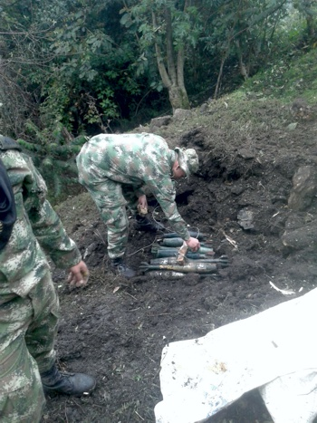 Desmantelan depósito de granadas de las Farc en el Cauca1