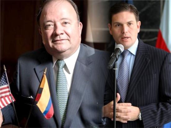 Luis Carlos Villegas y Juan Carlos Pinzón - ministerio de Defensa