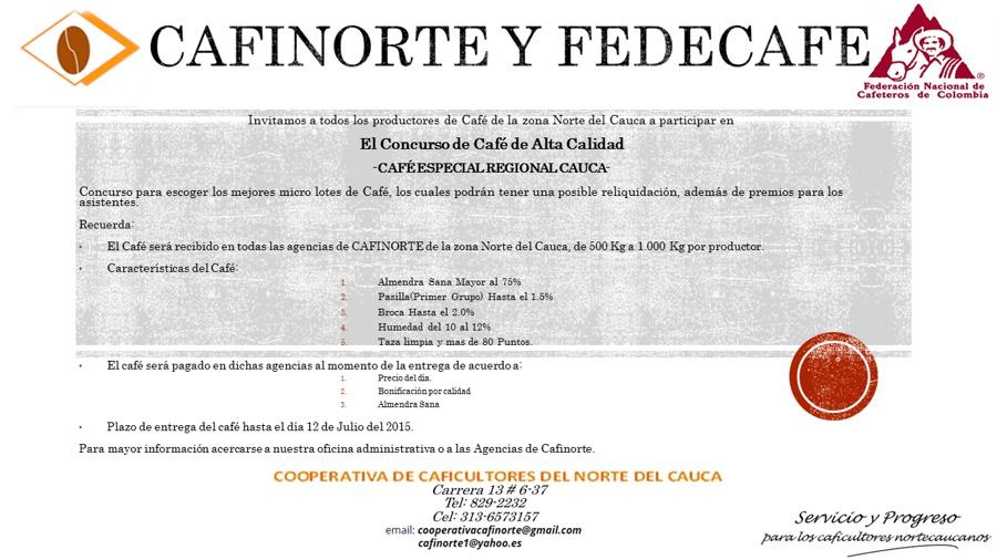 CAFINORTE - Concurso de Cafés Especiales - Norte del Cauca - Santander de Quilichao
