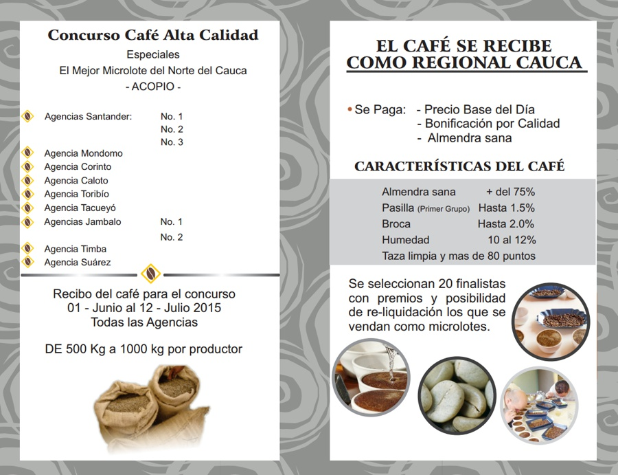 Cafinorte - Concurso Café Alta Calidad - Cauca