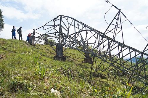 Farc vuelan torre de energía en Buenaventura