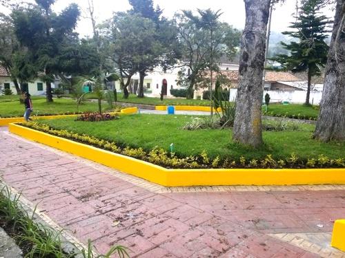 Parque principal de Paispamba, Sotará, Cauca1