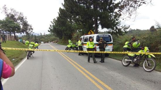 Tres policías muertos en Timbío, Cauca