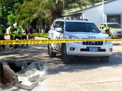 A la cárcel por transportar cocaína en una camioneta con logos falsos de la ONU