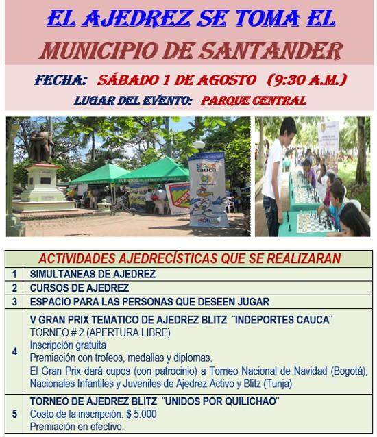 El ajedrez se toma el municipio de Santander de Quilichao