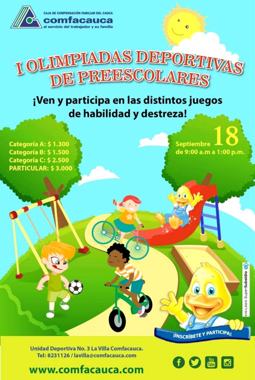 COMFACAUCA - I OLIMPIADAS DEPORTIVAS DE PREESCOLARES