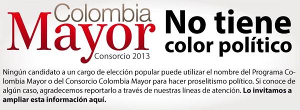 Colombia Mayor no tiene color político