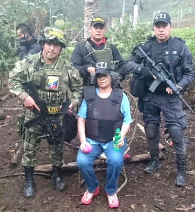 Gloria Amparo Montoya fue rescatada por el Ejército y la Fiscalía en el Cauca
