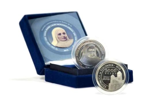 Moneda de 5.000 pesos - Madre Laura