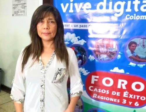 Rocío Méndez, coordinadora general del proyecto Kioscos Vive Digital Cauca
