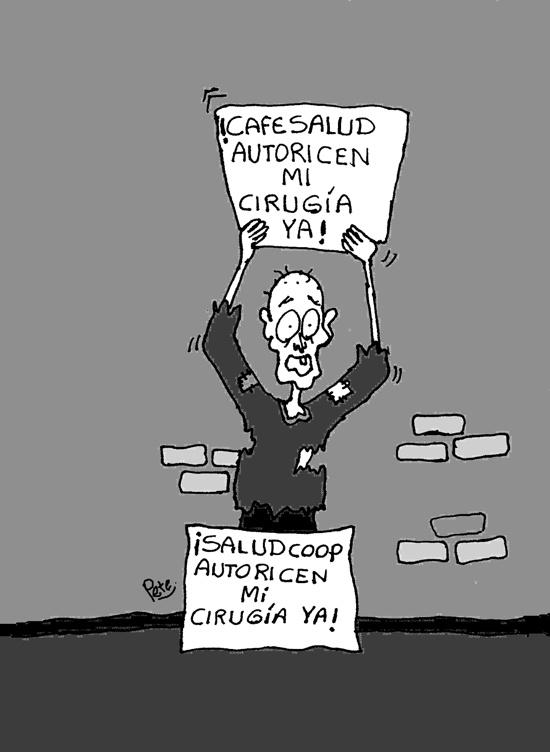 Caricatura del día - Cafesalud - Saludcoop - Pete