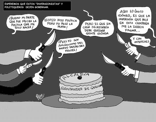 Caricatura del día - La Torta de la Alcaldía de Santander de Quilichao - Pete