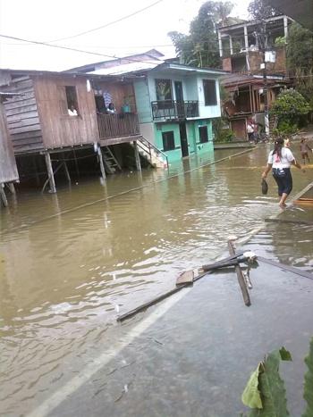 Emergencia en Timbiquí por fuertes lluvias