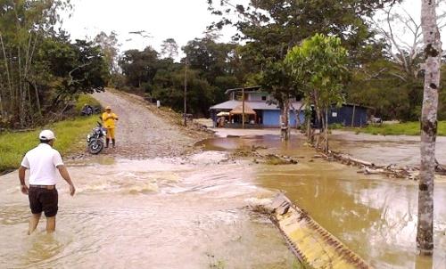 Emergencia por lluvias en Piamonte, Cauca