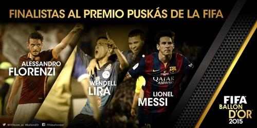 Finalistas Premio Puskas 2015 de la Fifa