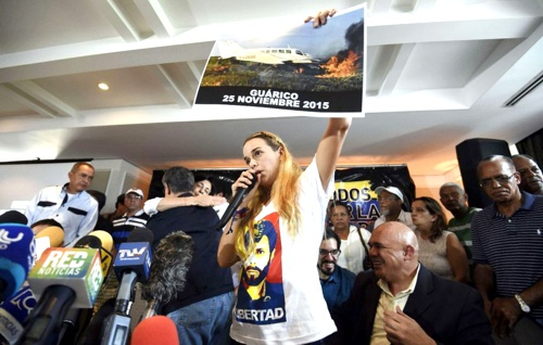 Lilian Tintori, esposa de Leopoldo López en Venezuela