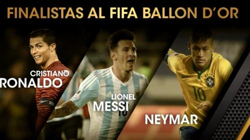 Los tres futbolistas nominados al Balón de Oro 2015 de la Fifa